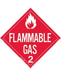 Flammable Gas Class 2 Decal