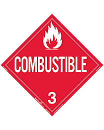 Combustible Class 3 Decal