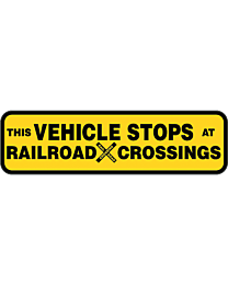 This Vehicle Stops At All Railroad Crossings Truck Decal