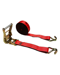 2 Inch x 30 Foot Ratchet Tie Down Strap with J Wire Hooks