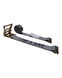 2 Inch x 16 Foot Grey Ratchet Logistic Straps with E Fittings