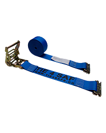 2 Inch x 20 Foot Blue Ratchet Logistic Straps with E Fittings