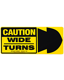 Wide Turn Truck Decal