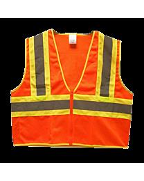 TruForce Class 2 Two-Tone Orange Mesh Vests
