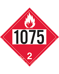 Flammable 1075 Class 2 Decal