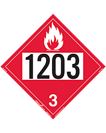 Flammable 1203 Class 3 Decal