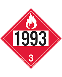 Flammable 1993 Class 3 Decal