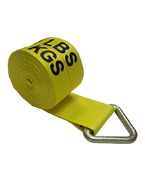 4 Inch x 30 Foot Yellow Winch Straps with Delta Ring